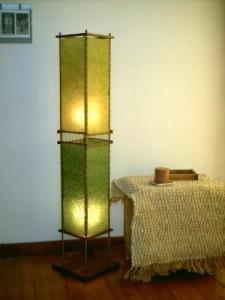 Paper leg lamp