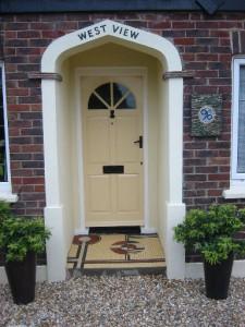 Original mosaic doorstep