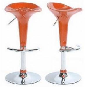 Orange acrylic bar stools