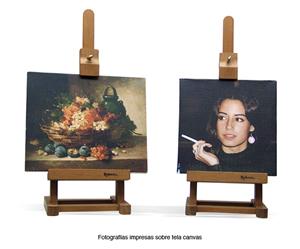 Digital photos printed on canvas