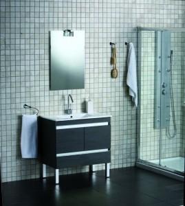 Modern styled bathroom