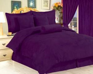 Micro suede bed comforter