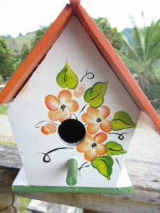 Decorative wooden birdcage