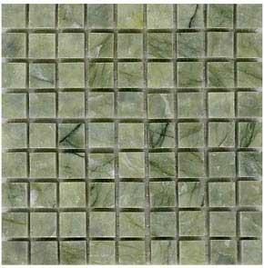 Green marble mosaic tile