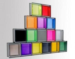 Colorful glass blocks