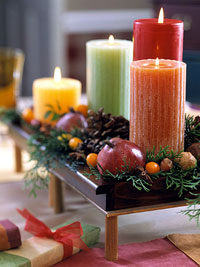 Thanksgiving day candle decoration