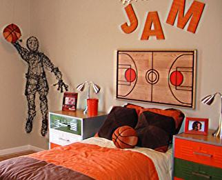 Basketball themed room