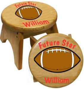 American football styled stools