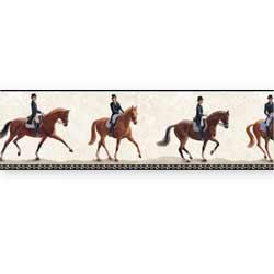 Horse wallpaper border