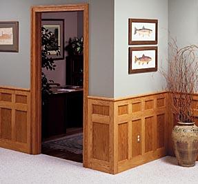 Wooden waiscoting