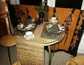 African Decor Dining Room
