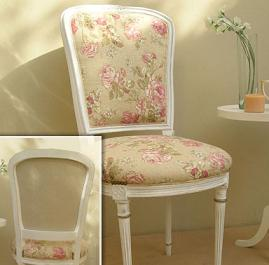 French styled upholstered chair