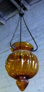 Rustic glass lamp